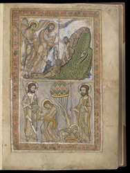 Harrowing of Hell, and Christ, Thomas and Mary Magdalene, in The Winchester Psalter